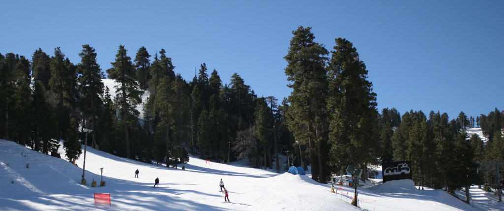 People skiing at Mountain High in Wrightwood California