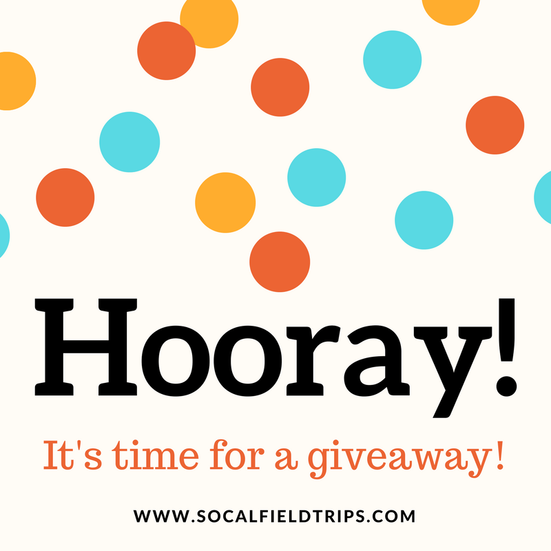 Enter SoCal Field Trips.com weekly giveaways to events throughout Southern California.