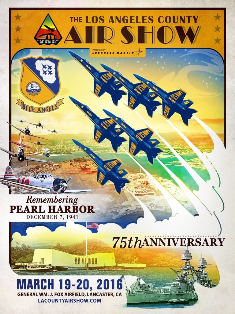 Attend the Los Angeles County Air Show on March 19-20, 2016 at The Fox Airfield in Lancaster, California