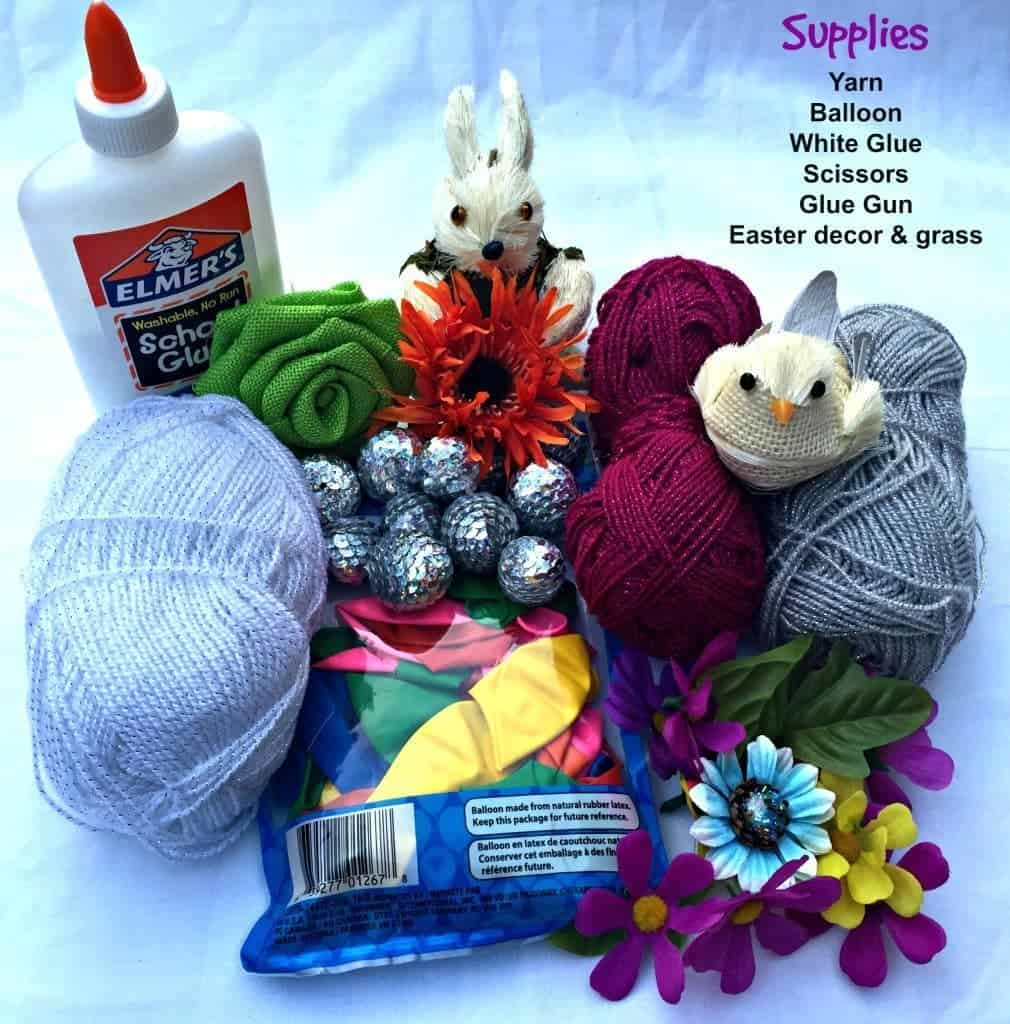 Easy Yarn Easter Egg Craft Step By Step Tutorial With Pictures