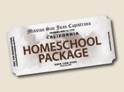 Homeschool Family Day at The Mission San Juan Capistrano is offered the 3rd Wednesday of the month!  The cost is only $12.16 per child.