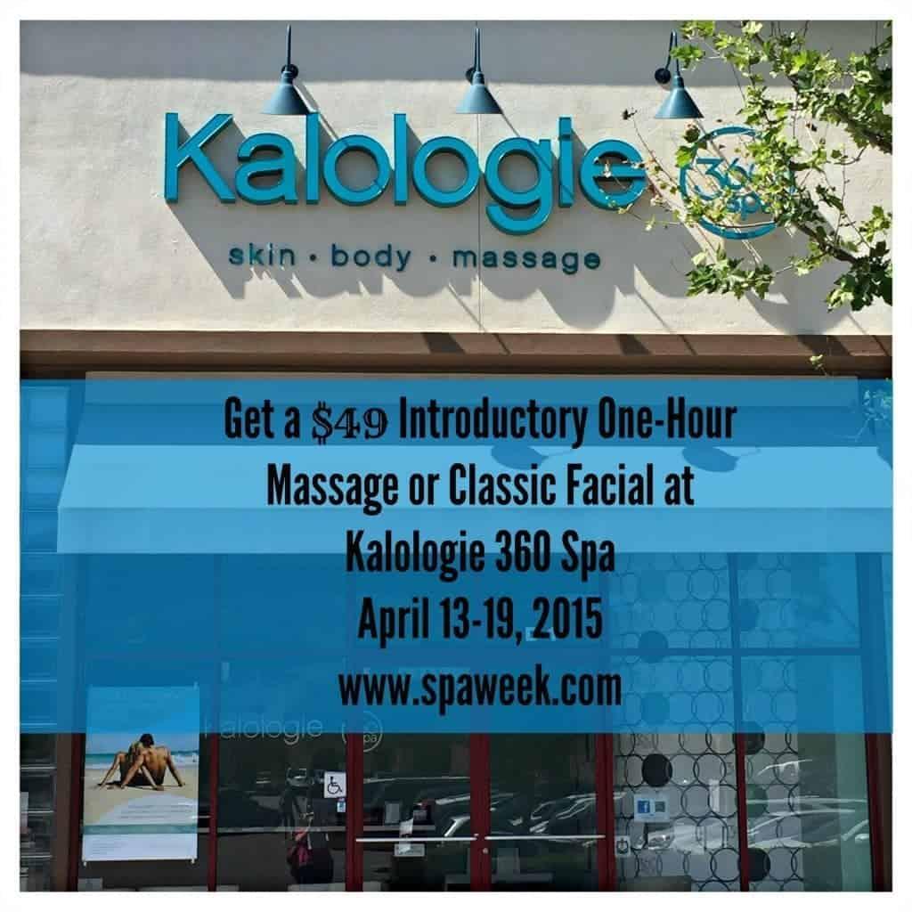 Get a $50 massage during Spa Week, April 13-19, 2015!