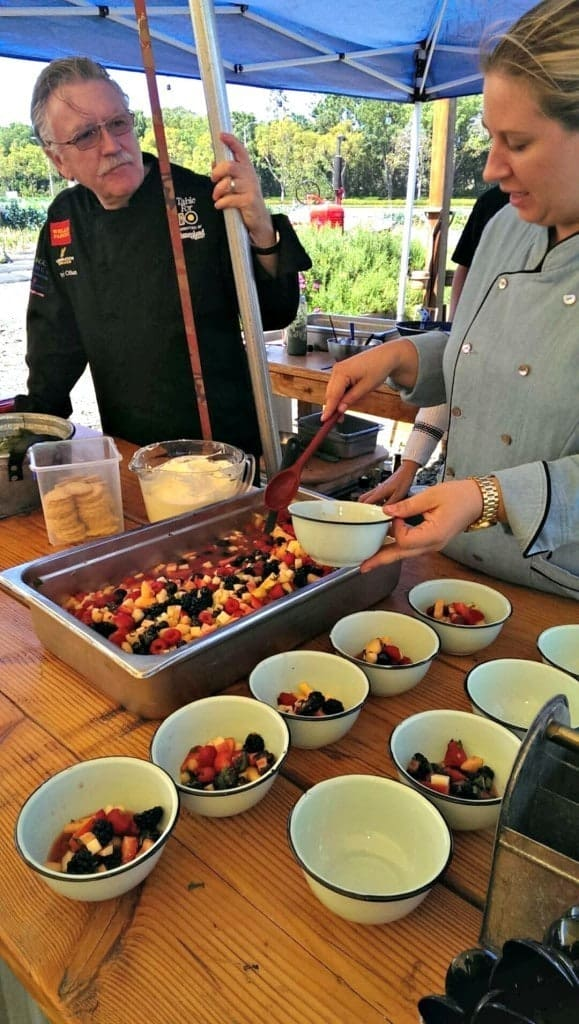 """Come experience the most unique culinary event in Orange County! Our """"Breakfast in the Barn"""" series features a respected Orange County Chef along with resident Master Chef Pascal Olhats. This experience promises to be both delicious and entertaining as the chefs demonstrate cooking tips and explain how they incorporate our farm fresh produce.  Get ready for mimosas, a three course breakfast, and lots of fun in the open air at the farm!"""