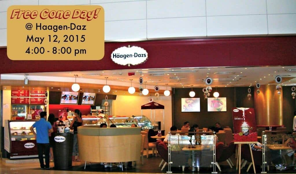 Join Haagen-Daz for Free Cone Day on Tuesday, May from 4:00 pm - 8:00 pm!