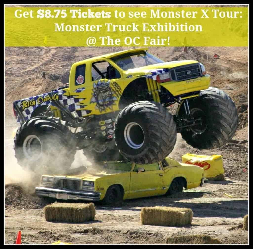 Get $8.75 Tickets to see Monster X Tour: Monster Truck Exhibition at The OC Fair!