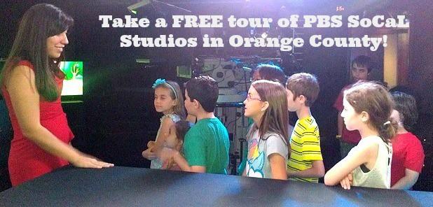 Take a FREE tour of PBS SoCaL Studios in Orange County!