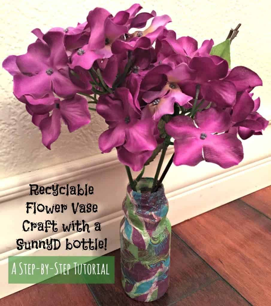 Recyclable flower vase craft step by step tutorial with pictures spring plastic bottle tissue paper craft this super easy craft only requires a plastic bottle reviewsmspy