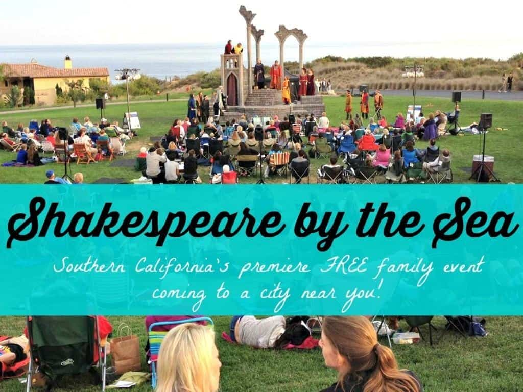 Shakespeare by the Sea's summer theatrical shows are performed at over 10 Southern California cities.  Shows are completely FREE and run from June - August every year.