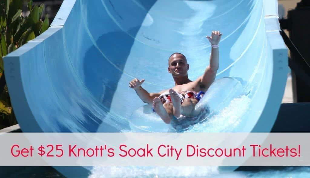 Get $25 Knott's Soak City Discount Tickets This Summer!