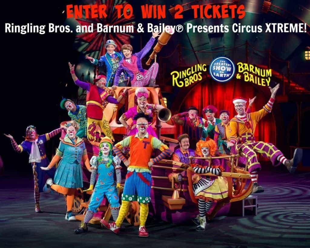 xtreme sweepstakes giveaway win 2 tickets to see ringling bros and barnum 2001