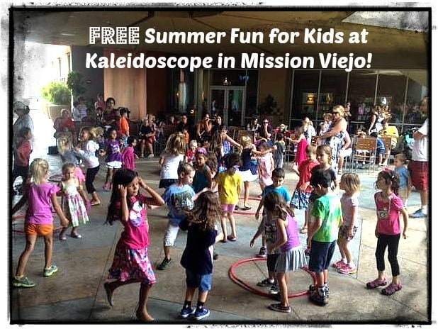 Kaleidoscope in Mission Viejo is bringing back its Kaleido-Kids Summer Time Fun Series co-sponsored by Jump 'n Jammin this summer! The FREE series of activities for kids will take every Tuesday from June 23 to August 18 from 11:30 am to 12:30 pm. The series will culminate with a day of fun at the Kaleido-Kids Mini Carnival benefiting Make A Wish ® Orange County and Inland Empire on Monday, August 24 from 11:30 am to 2:30 pm.