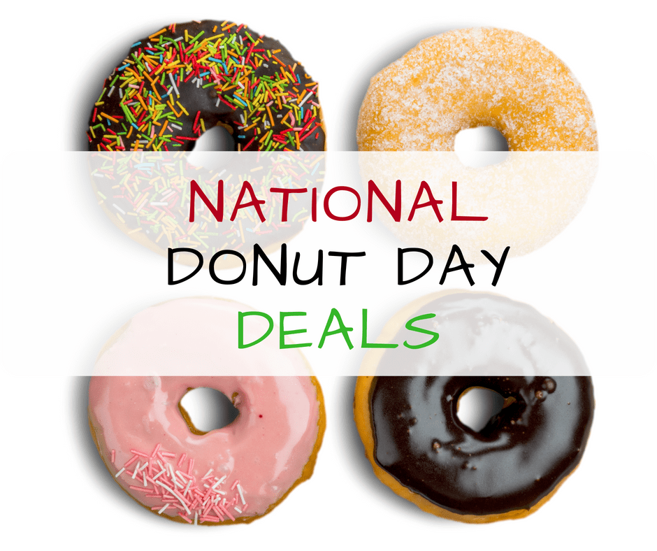 Get a free donut of your choice at Krispy Kreme and Dunkin' Donuts on National Donut Day on Friday, June 1.