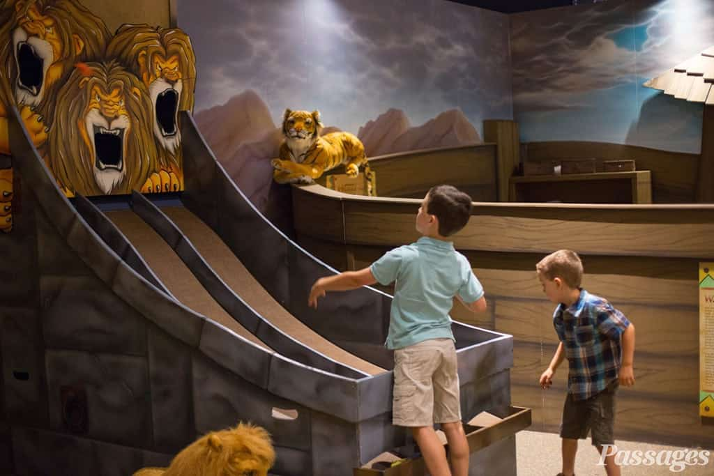 Passages is a 30,000-square-foot, interactive exhibit presented by Museum of the Bible that chronicles the remarkable history of the Bible, from its transmission and translation to its impact and controversies.