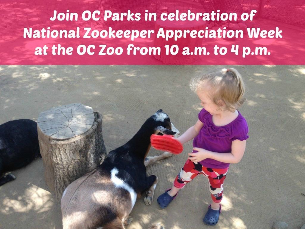 On Saturday, July 25 we will be joining OC Parks in celebration of National Zookeeper Appreciation Week at the OC Zoo from 10 a.m. to 4 p.m.  My kids will learn what it takes to be a zookeeper and get to experience the animals of the OC Zoo up close!