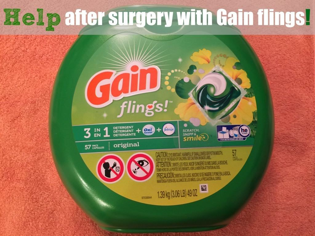 Gain flings is a great item to use after surgery to help lighten your work load!