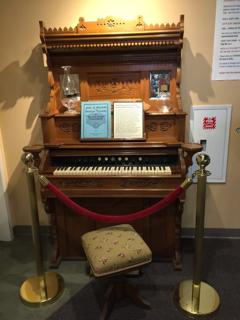 The Museum of Making Music in Carlsbad, California offers field trips and tours for ages preschool - adults.  The price is $8 for adults / $5 for kids.