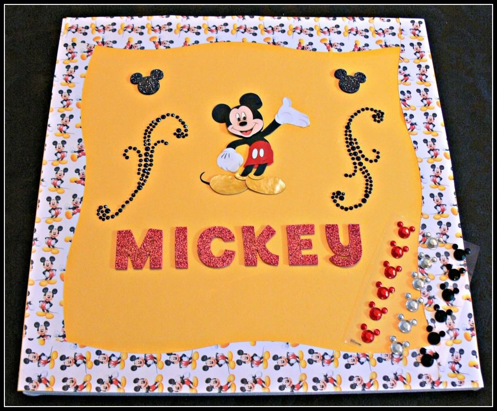 Mickey Mouse picture frame craft.  Step by step tutorial with pictures.
