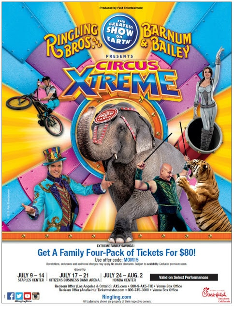 Ringling Bros. and Barnum & Bailey presents Circus XTREME! Now Playing in Ontario & Anaheim!