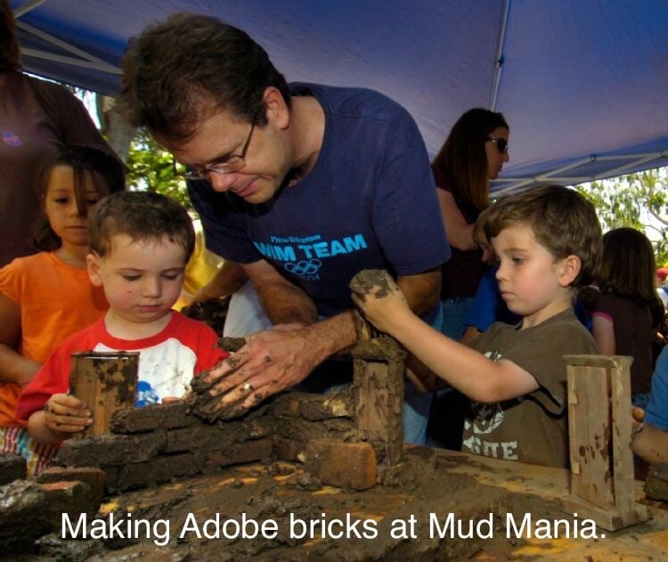 Join Rancho Los Cerritos on Sunday, August 16, from 12:30 pm to 4:30 pm for Mud Mania!!!