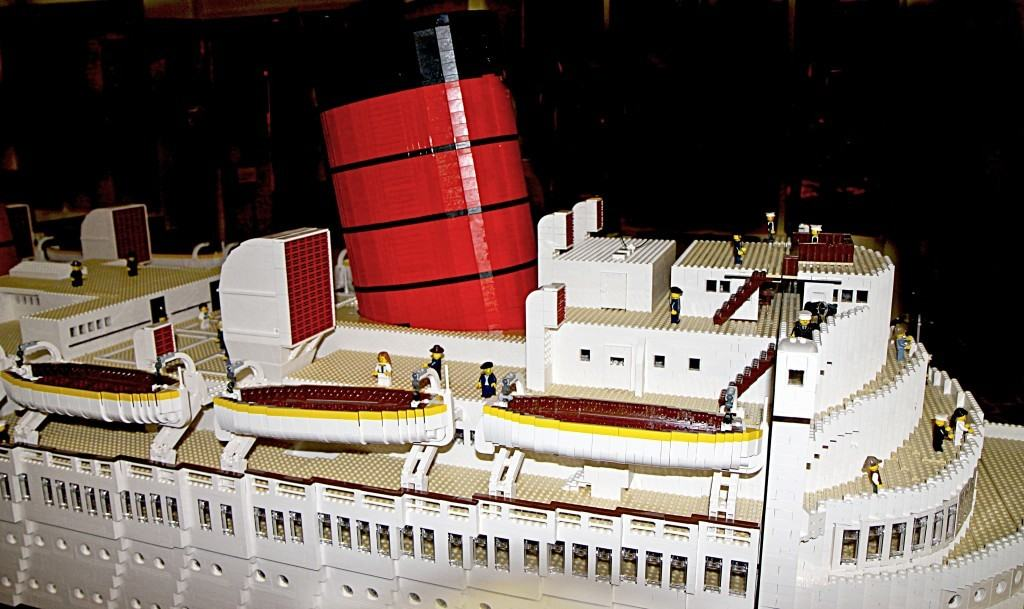 A Picture & Video Tour of The New Queen Mary LEGO Exhibit in Long Beach!