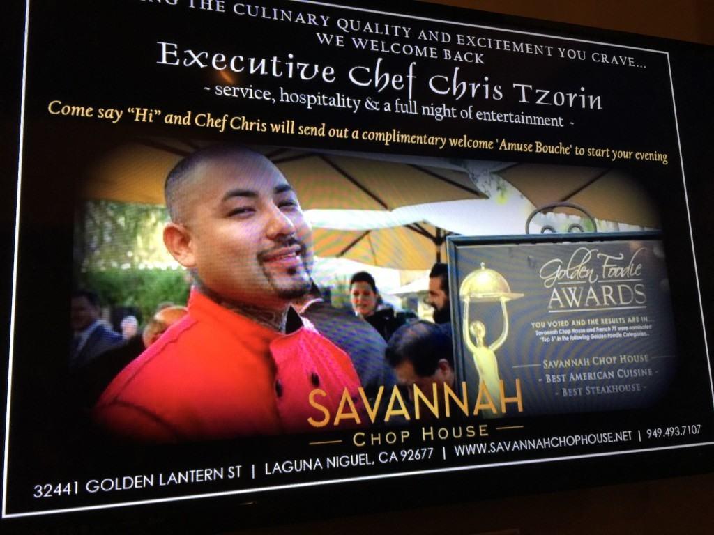 Two Cheers For Savannah Chop House in Laguna Niguel, California!