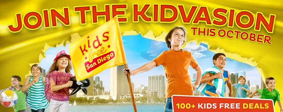 Take advantage of Kids Free San Diego in October when kids eat, stay and play for free throughout all of San Diego!