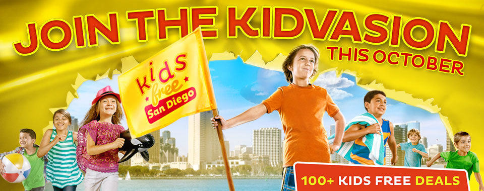 Kids Free San Diego! During the entire month of October, kids eat, stay and play for free throughout all of San Diego.