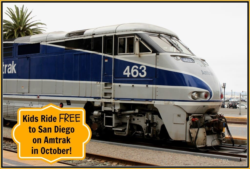Kids Ride Free to San Diego on Amtrak in October