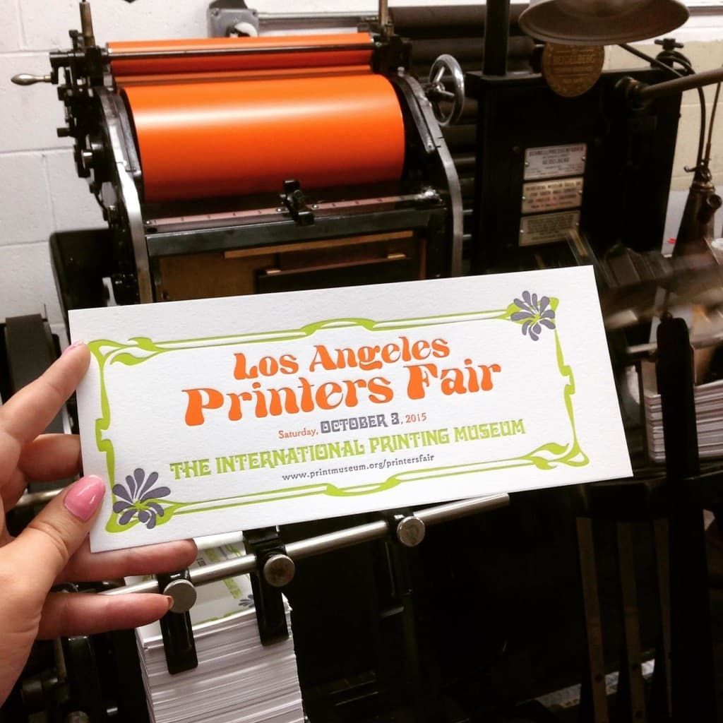 LA Printers Fair at the International Printing Museum on October 3, 2015