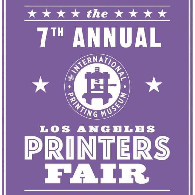 LA Printers Fair at the International Printing Museum on October 3, 2015