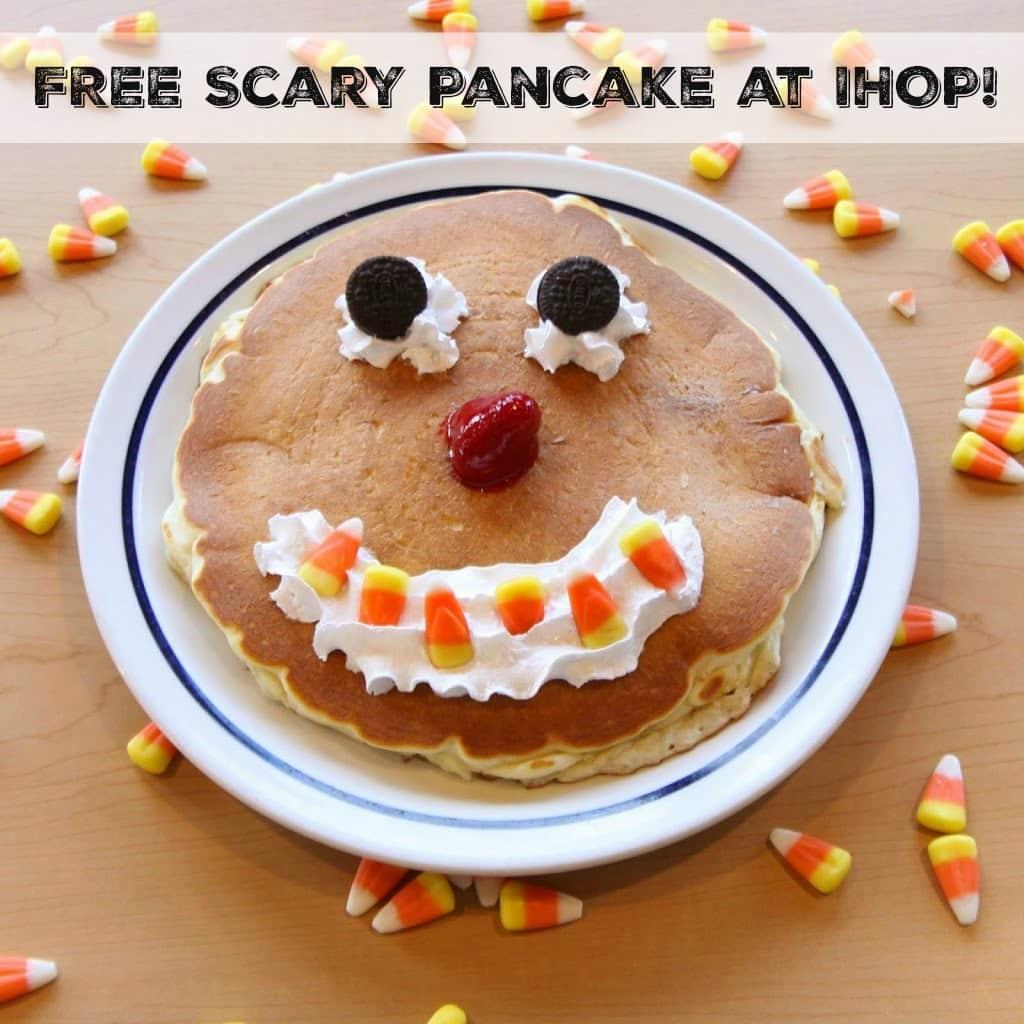 Free Scary Face Pancake at IHOP