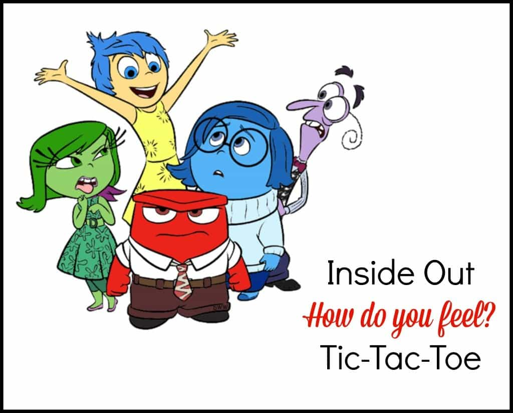 Inside Out How Do I Feel Tic Tac Toe Game For Children