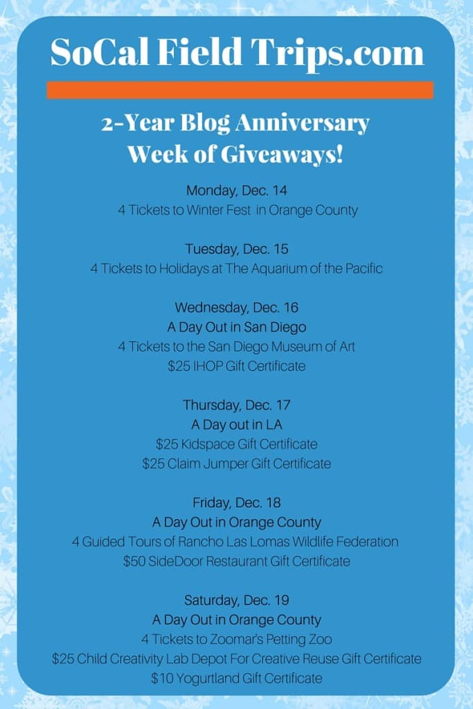 Enter a giveaway for Winter Fest taking place in Costa Mesa over the holiday break!
