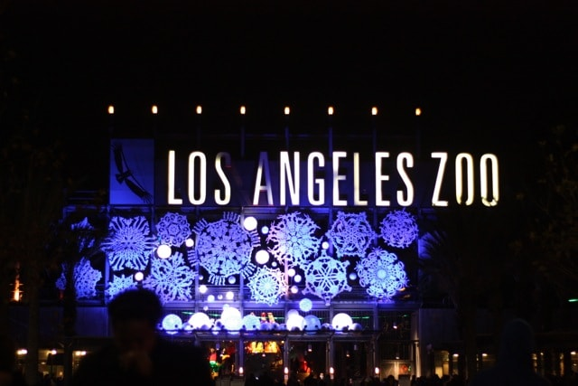 """L.A. ZOO LIGHTS returns for its third spectacular year as it kicks off a """"ZooLAbration"""" of the Los Angeles Zoo's 50th Anniversary on Friday, November 18, 2016, and remains open for seven awe-inspiring weeks through Sunday, January 8, 2017. Awarded USA Today's 2015 """"10 Best Zoo Lights"""" honor, L.A. Zoo Lights sets the Zoo aglow in wonder and delight with a fanciful menagerie of animal characters brought to """"life,"""" LED lights by the thousands, giant illuminated snowflakes, a """"red-carpet"""" 50th Anniversary party celebrating the Zoo's Golden Year, a disco ball forest, glittering twinkle tunnels, stunning 3-D animated projections, and much more."""