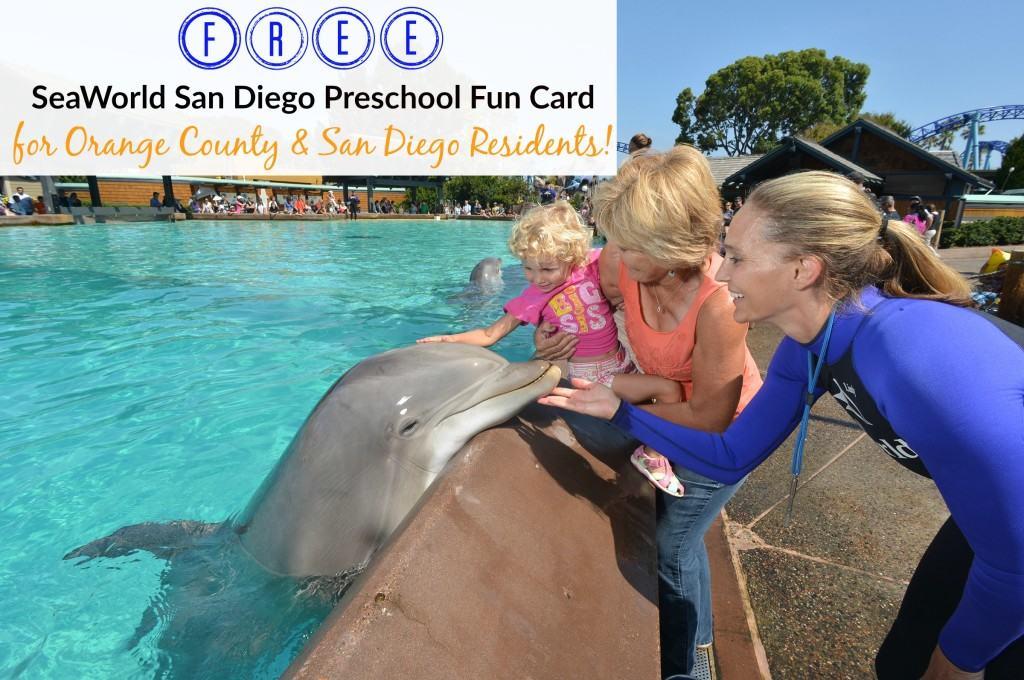 seaworld preschool fun card