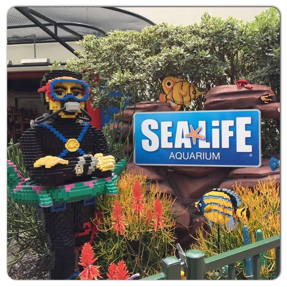Sealife Aquarium at LEGOLAND California in Carlsbad California