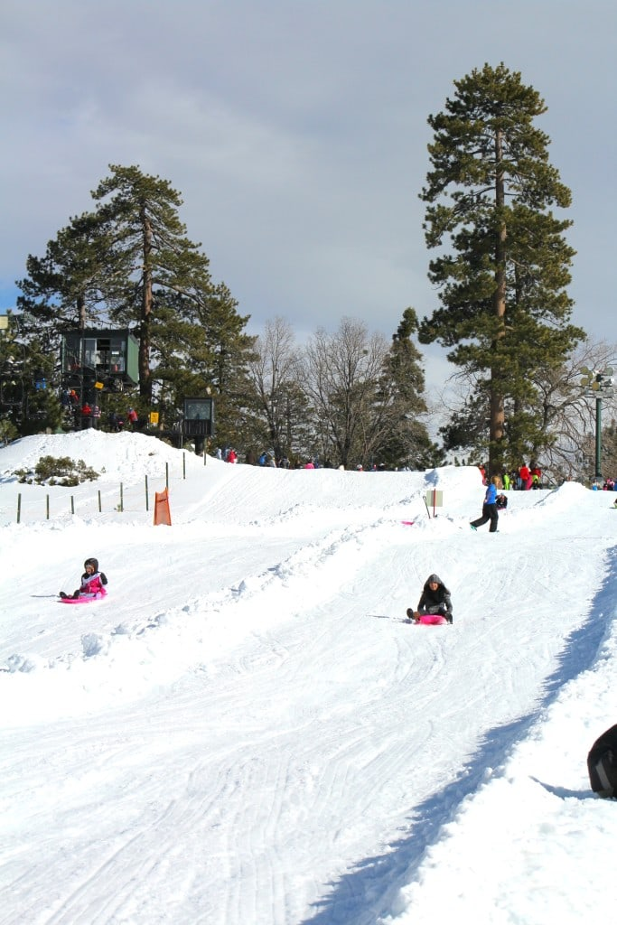 Snow Slides at Snow Valley
