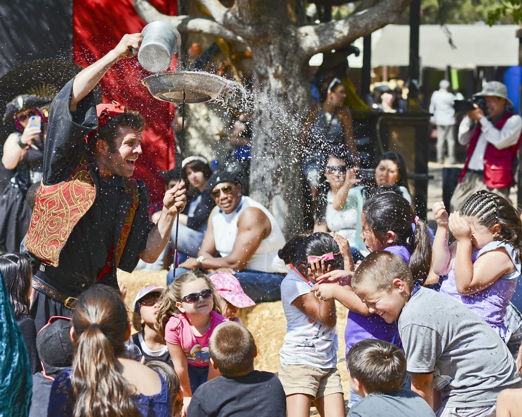 Attend the Original Renaissance Pleasure Faire at the Santa Fe Dam Recreation Area in Irwindale, California. Take a journey into a land of imagination, where jousting knights, regal ladies, saucy wenches and royal overseers all mix and mingle with you and your family.