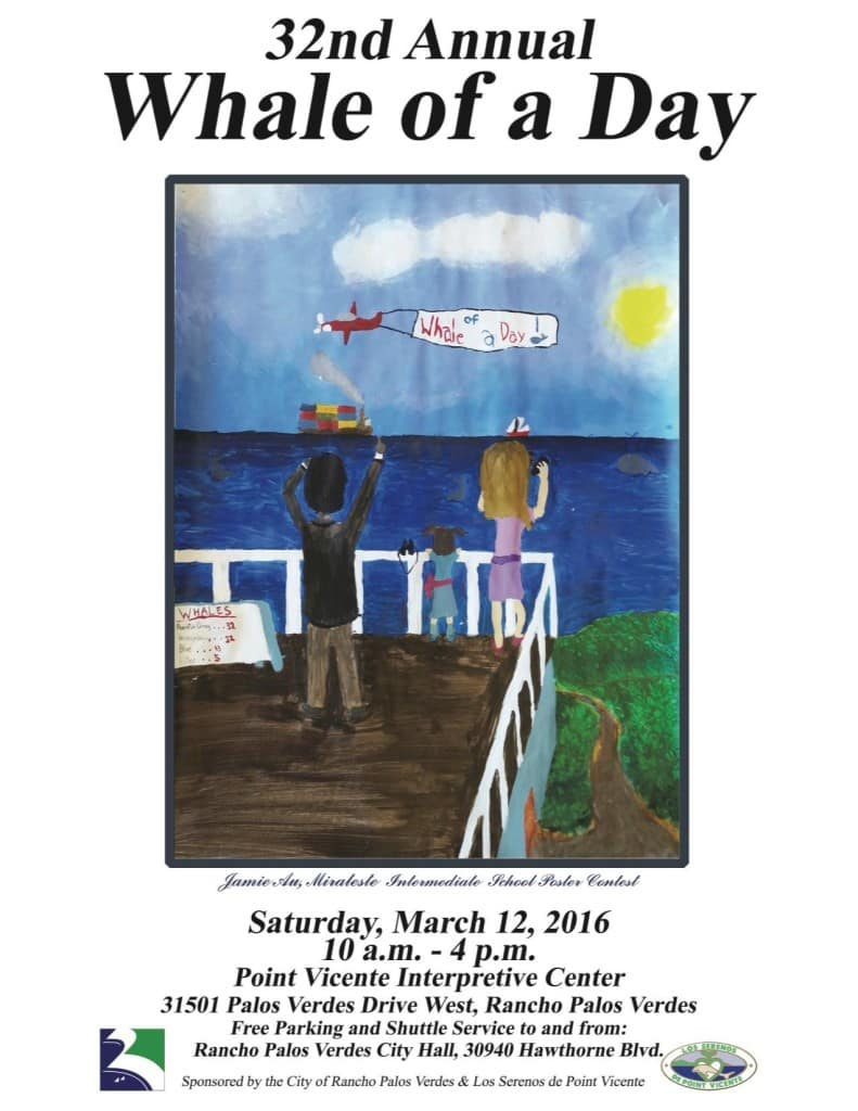 Free 2016 Whale Of A Day Celebration On March 12 In Rancho