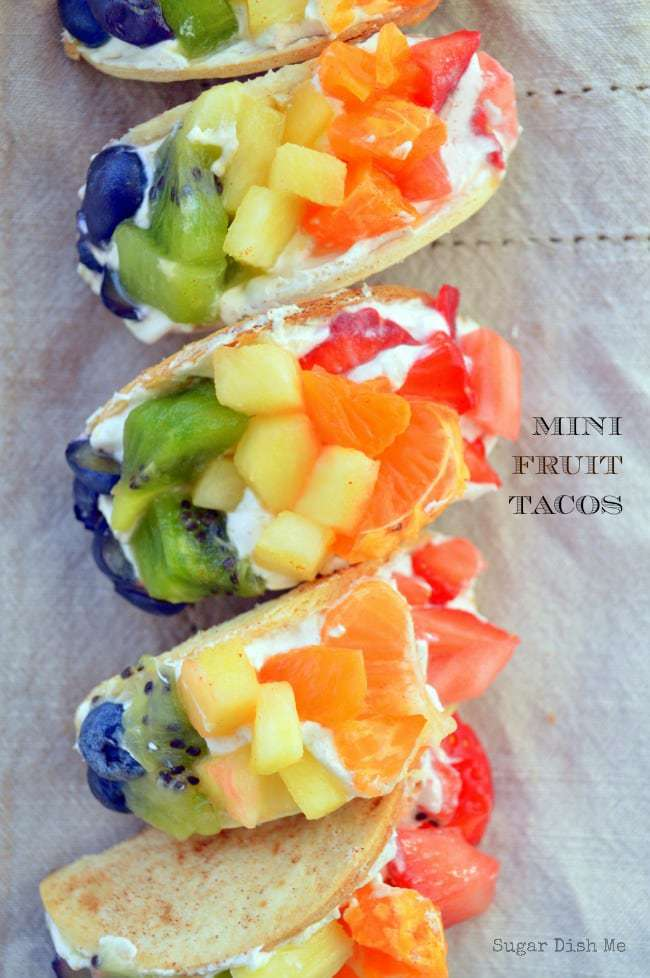 Mini Fruit Tacos Recipe for St. Patrick's Day