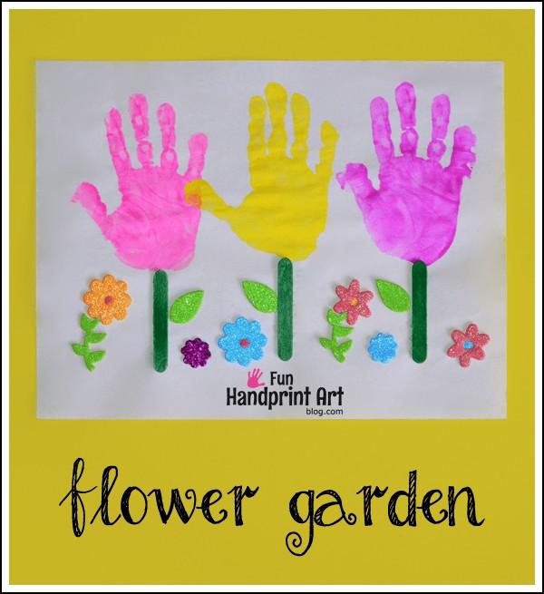 Flower Handprint Craft for Kids
