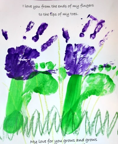 Flower Footprint Craft for Children