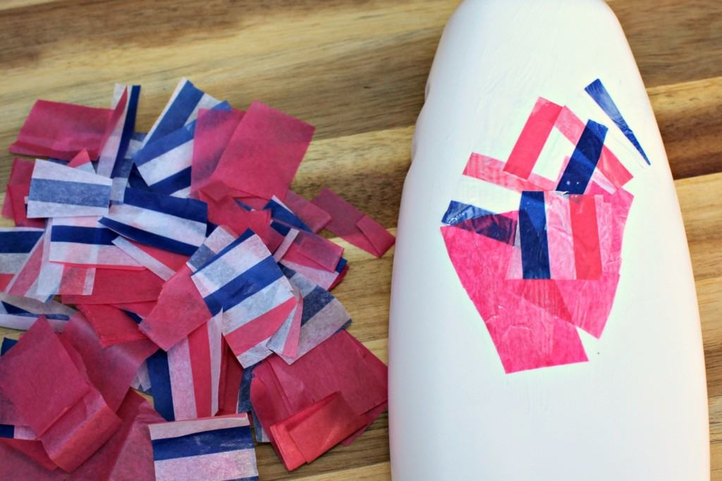 Make this Easy Plastic Bottle Flower Vase out of any type of recyclable bottle and tissue paper. It is the perfect Mother's Day Kids Craft too.