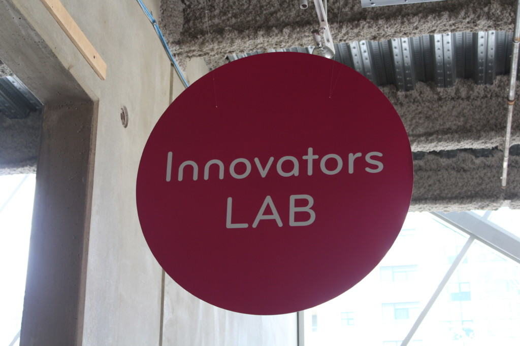 In the Innovators Lab, as a part of the Experimentation area at the San Diego Children's Discovery Museum, children make connections with science, technology, engineering, and math through a continually changing series of investigative science stations.