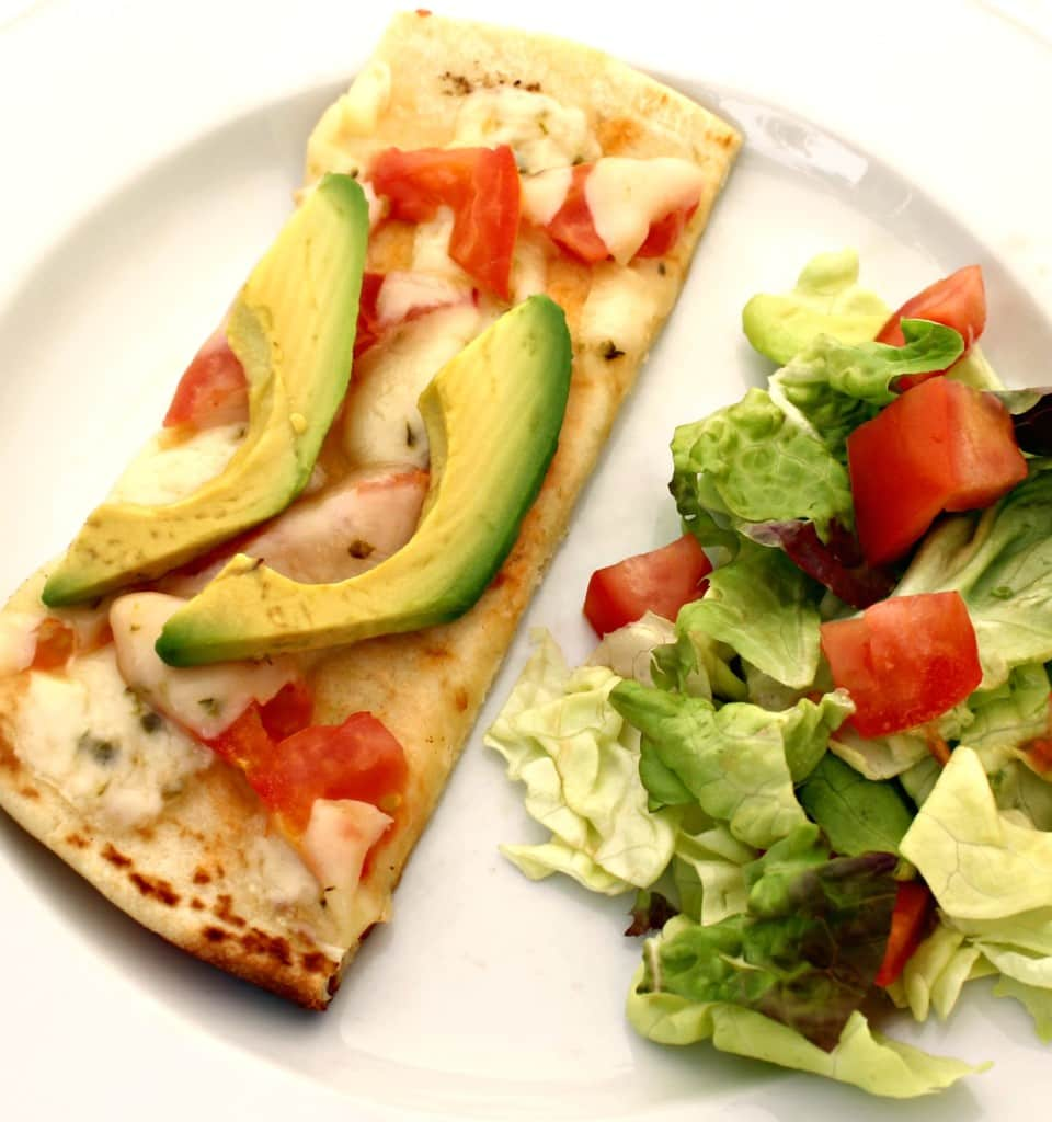 Pepper Jack Avocado Flatbread Pizza Recipe with Step by Step Directions and Pictures