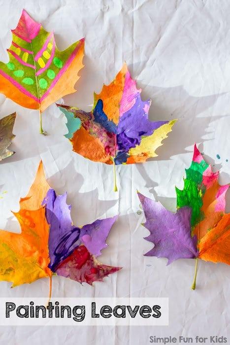 25 easy leaf crafts for kids