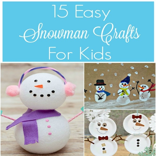 Check out these 15 Easy Snowman Crafts for Kids! They are perfect for children for all ages, including preschoolers and day care providers.