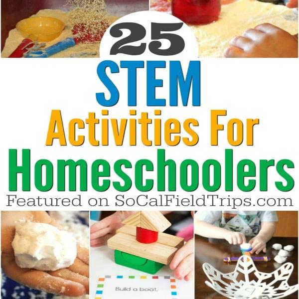 25 Easy STEM Activities For Homeschoolers