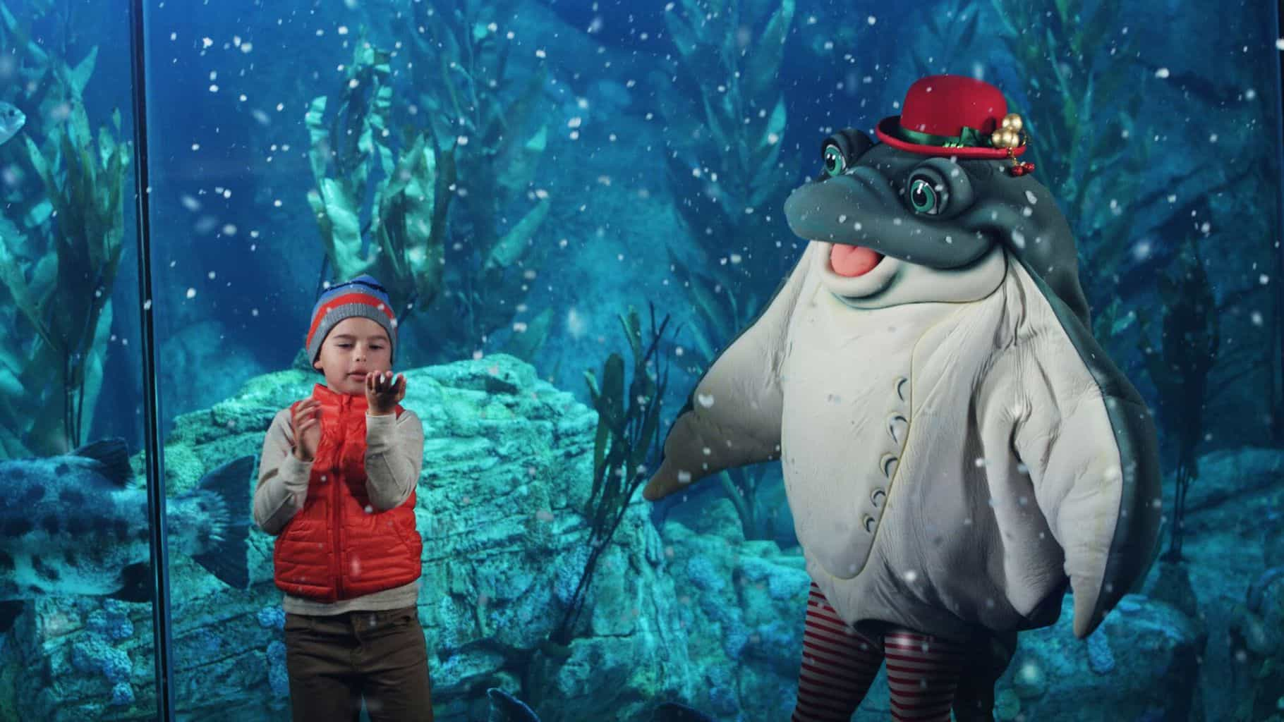 Celebrate the holidays at the Aquarium of the Pacific in Long Beach during their month-long Aquarium Holidays celebration.
