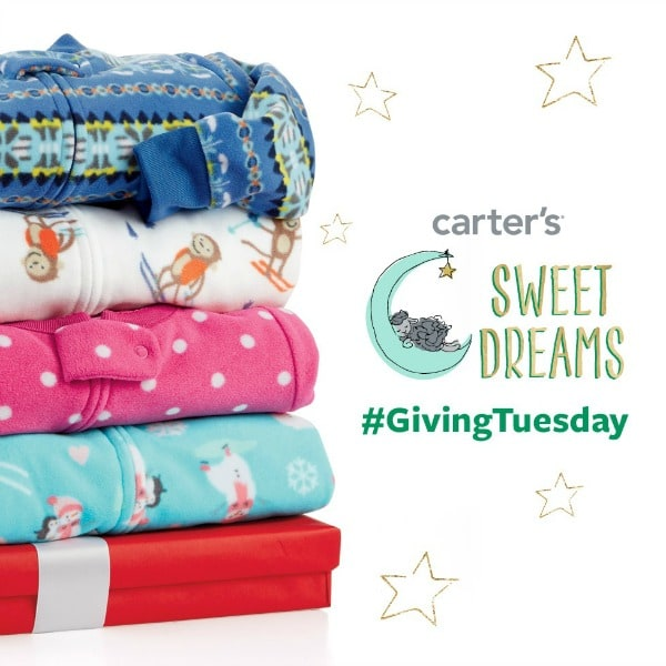 This year marks Carter's first Pajama Program for Giving Tuesday! For every Carter's pajama purchased online today at www.Carters.com or at one of Carter's 650+ retail stores, Carter's will donate one of America's favorite jammies to children in need, up to 100,000 pairs.